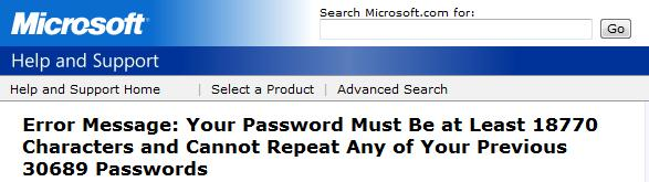 Microsoft Secure Password