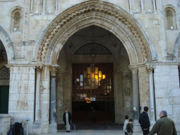 Jerusalem entrance of the Al-Aqsa mosque