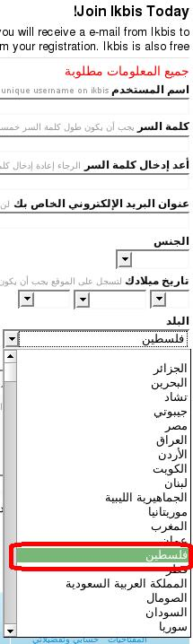 Ikbis Countries List (Arabic)