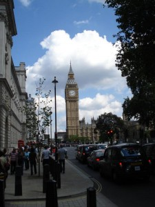 Big Ben from street level