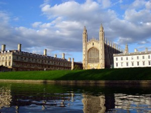 """King's College Chapel as seen from """"The Backs"""""""